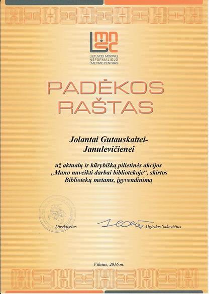 Jolantai Gutauskaitei